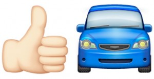Hitchhiking emojis