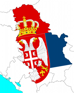 Serbia map with Kosovo