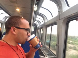 Coffee on Amtrak, Houston to LA