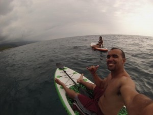 Paddle Boarding near Ho'okena Beach, Kona Side
